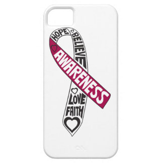 Head Neck Cancer Slogans Ribbon iPhone 5 Cases