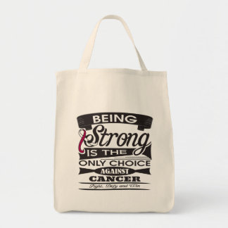 Head Neck Cancer Strong is The Only Choice Grocery Tote Bag