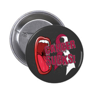 Head Neck Cancer Sucks Scream It Buttons