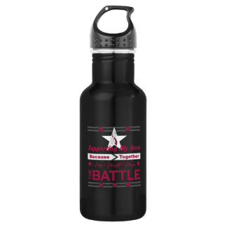 Head Neck Cancer Supporting My Hero 18oz Water Bottle