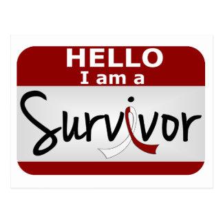 Head Neck Cancer Survivor 24.png Postcard