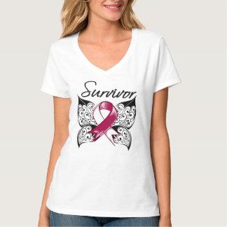 Head Neck Cancer Survivor Butterfly T-Shirt