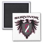 Head Neck Cancer Survivor Crest Magnets