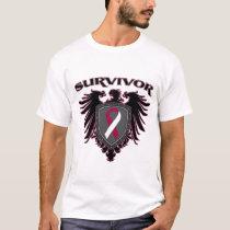 Head Neck Cancer Survivor Crest T-Shirt