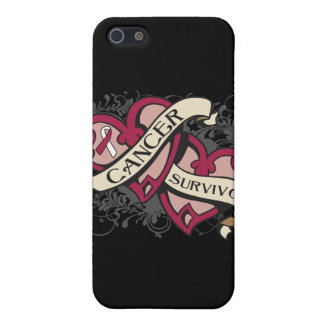 Head Neck Cancer Survivor Dual Hearts Covers For iPhone 5
