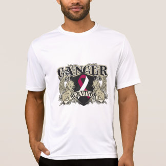 Head Neck Cancer Survivor Mens Heraldry T-shirt