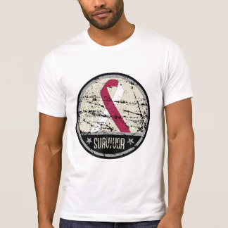 Head Neck Cancer Survivor Mens Vintage T Shirt