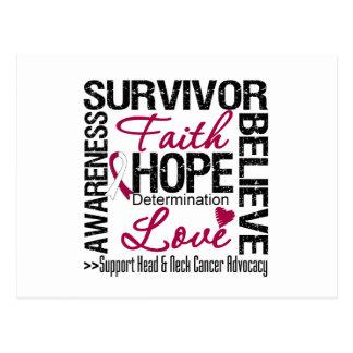 Head Neck Cancer Survivors Motto Postcard