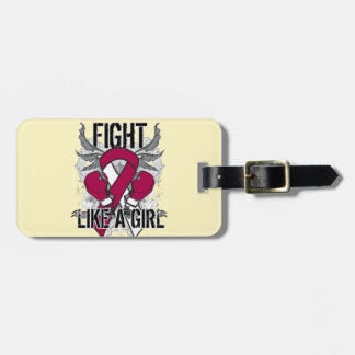 Head Neck Cancer Ultra Fight Like A Girl Travel Bag Tags