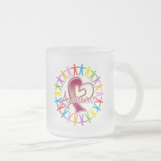 Head Neck Cancer Unite in Awareness 10 Oz Frosted Glass Coffee Mug