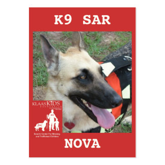 head-NOVA2, KlassKids Search Team K9 Large Business Card
