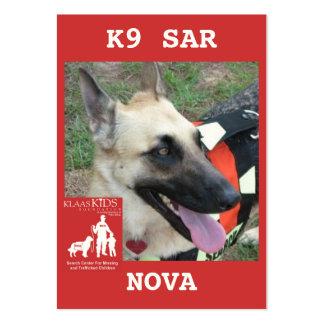 head-NOVA2, KlassKids Search Team K9 Large Business Cards (Pack Of 100)