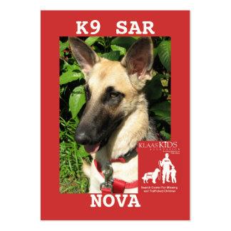 head-NOVA, KlassKids Search Team K9 Large Business Card