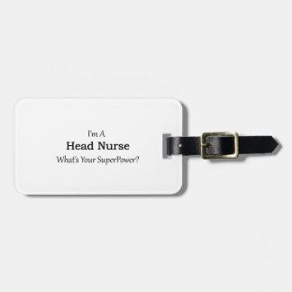 Head Nurse Luggage Tag