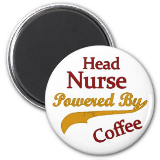 Head Nurse Powered By Coffee Magnet