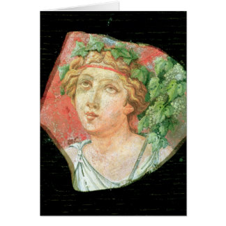 Head of a bacchante card