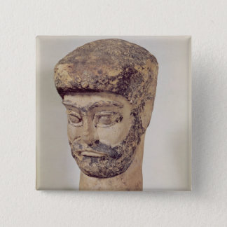 Head of a beaded man, c.1800 BC Pinback Button