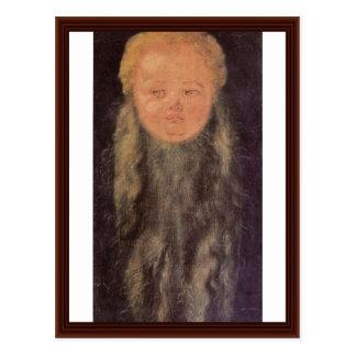 Head Of A Bearded Child By Albrecht Dürer Postcard