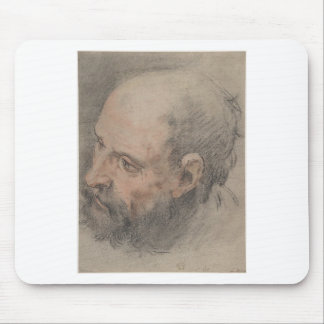 Head of a Bearded Man Looking Left Mouse Pad