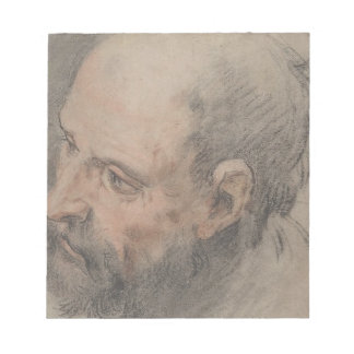 Head of a Bearded Man Looking Left Notepad