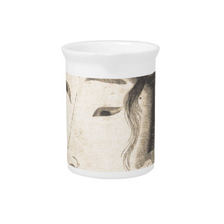 Head of a Beauty by Keisai Eisen Drink Pitcher