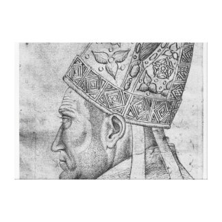 Head of a bishop, from the The Vallardi Album Canvas Print
