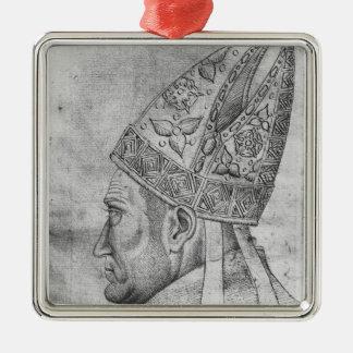 Head of a bishop, from the The Vallardi Album Metal Ornament