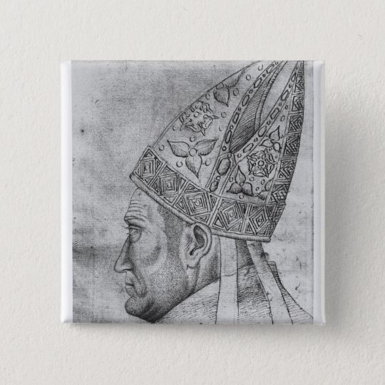 Head of a bishop, from the The Vallardi Album Pinback Button