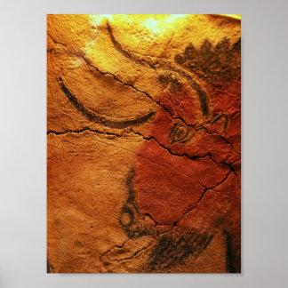 Head of a bison Altamira Cave Poster