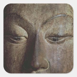 Head of a Bodhisattva Square Sticker