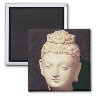 Head of a Buddha, Greco-Buddhist style Magnet