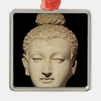 Head of a Buddha, Greco-Buddhist style Metal Ornament