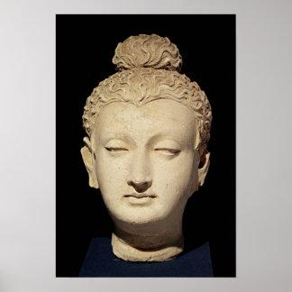 Head of a Buddha, Greco-Buddhist style Print