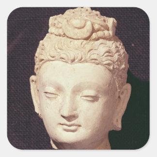 Head of a Buddha, Greco-Buddhist style Square Sticker