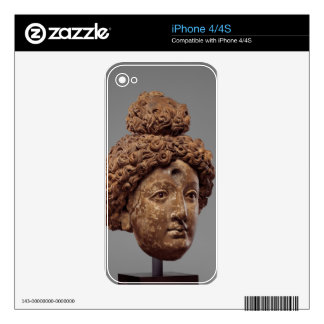 Head of a Buddha or Bodhisattva Decals For The iPhone 4S