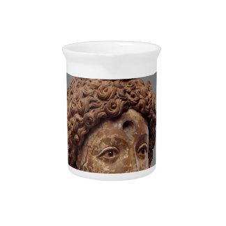 Head of a Buddha or Bodhisattva Drink Pitcher