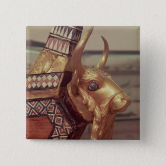 Head of a bull, decoration from a harp 2 button