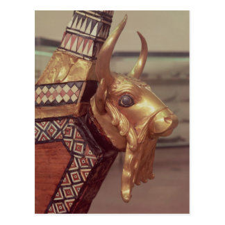 Head of a bull, decoration from a harp 2 post cards