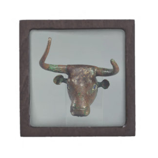 Head of a bull, with Royal Sumerian inscription, m Premium Trinket Boxes