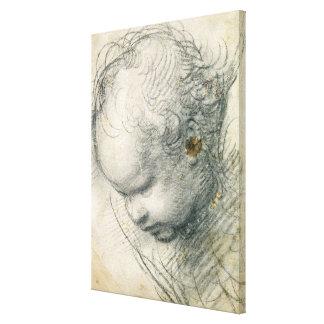 Head of a Cherub Canvas Print
