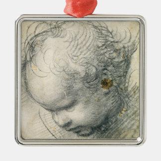 Head of a Cherub Metal Ornament