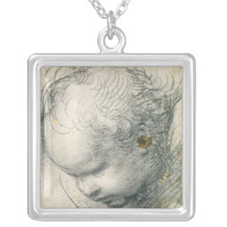 Head of a Cherub Silver Plated Necklace