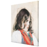 Head of a Child Canvas Print