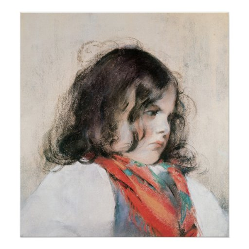 Head of a Child Poster