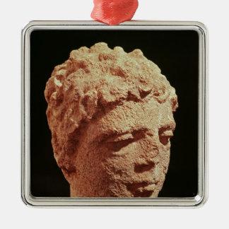 Head of a Divinity Metal Ornament