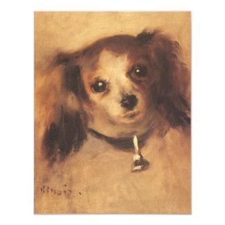 Head of a Dog by Pierre Renoir, Vintage Fine Art Card