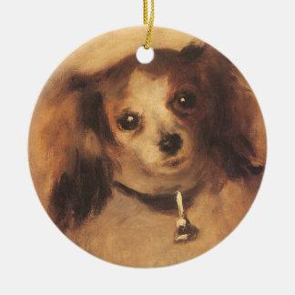 Head of a Dog by Pierre Renoir, Vintage Fine Art Ceramic Ornament
