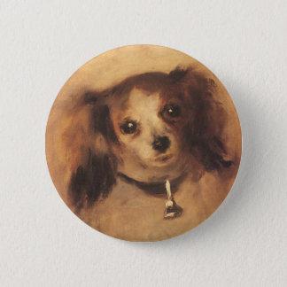 Head of a Dog by Pierre Renoir, Vintage Fine Art Pinback Button