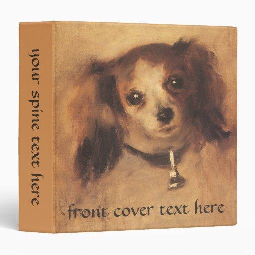 Head of a Dog by Renoir, Vintage Impressionism Art Binders