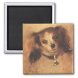 Head of a Dog by Renoir, Vintage Impressionism Art Magnet